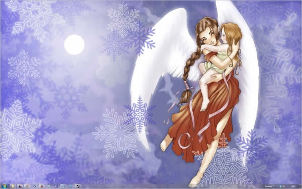 snow angels Temas Natalinos para Windows 7