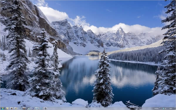 winter theme Temas Natalinos para Windows 7