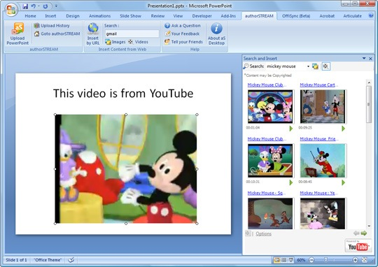 Como colocar vídeos do YouTube no PowerPoint