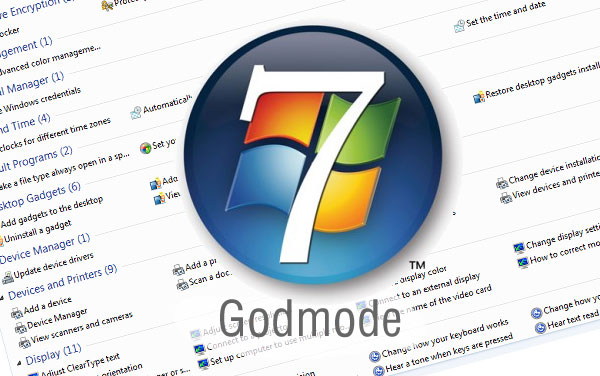 "Habilite o ""God Mode"" no Windows 7"