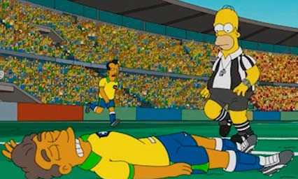 Assista o episódio completo dos Simpsons no Brasil: You don't have to live like a referee