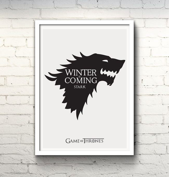poster stark livro game of thrones